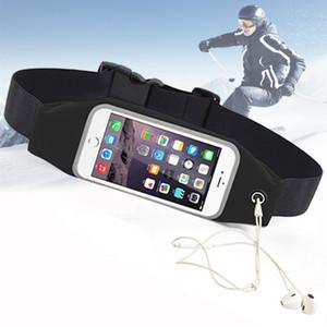 Correndo telefone Belt inteligente Android Sports cintura Bag Reflective Pouch respirável Esporte cinto elástico ajustável 800775