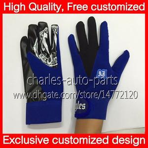 100% neue blaue Handschuhe heißes exklusives kundengebundenes Design blaue AJ-Art-Handschuhe Unisexsport-Knochen-Frauen-Mann-Kinder neue AJ-Handschuhe Freies Verschiffen