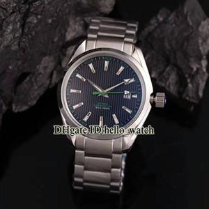 Alta calidad 007 AQUA TERRA 150M JAMES BON CO-AXIAL 231.10.42.21.01.004 Blue Dial Mens Reloj SS con caja de regalo