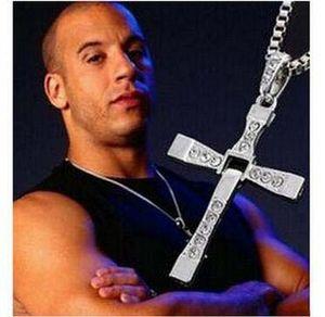 Film In Verbindung stehende Kreuz Halskette Der schnelle und der wütende 5 Schauspieler Toledo Mit Bohrer Kreuz Halskette Anhänger Film Figuren Mode-Accessoires
