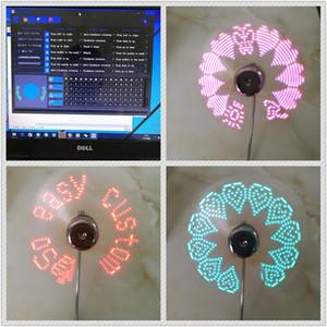 2018 DIY USB Gadget Mini USB Fan Esnek Programlanabilir LED Soğutucu Soğutma Fanı Programlama USB Fan LED Işık Ücretsiz DHL