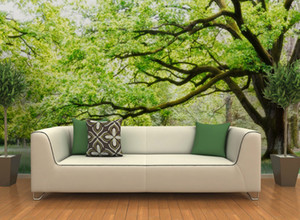 Modern fashion office living room bedroom tree Art customized Mural 3d sofa tv background photo waterproof wallpaper mural big home decor