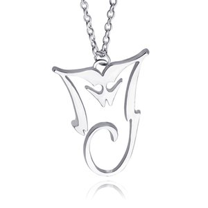 Plated Michael Jackson Pendant MJ Wholesale- Bad King Jewelry Thriller Silver Of Wholesale Necklace Ookeb