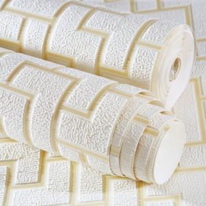 الحديث 3d تنقش نمط هندسي تنفس غير المنسوجة النسيج سميكة ورق الحائط ديكور المنزل غرفة المعيشة خلفيات