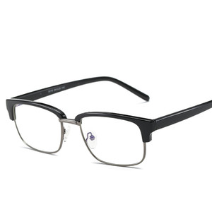 Wholesale- TR90 Anti Blue Ray Clear Lens Fake Glasses Protection Eyewear Titanium Frame Reading Computer Glasses For Women Men