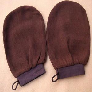 Новый хаммам-скраб-перчатка с волшебной пилинговой перчаткой отшелушивающая перчатка для ванны коричневый черный марокко-скраб
