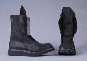 Moda 100% botas de piel de vaca de hombre hechas a mano Botas de diseñador Botas de moda de hombres Botas de Motocycle, EU38-45 GRAN TAMAÑO!