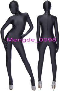 Unisex Traje de Cuerpo Completo Traje Negro Lycra Spandex Catsuit Disfraces Unisex Cosplay Disfraces Sexy Body Catsuit Halloween Cosplay Traje M042
