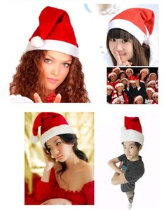 High Quality Christmas Ornaments Adult Ordinary Christmas Hats Santa Hats Children Cap for Christmas Party Props