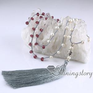 collier de perles de culture bijoux bohème collier de glands perlé collier long boho en ligne de bijoux de perles d'eau douce
