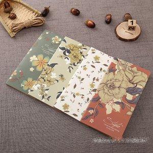 레트로 꽃 시리즈 노트북 / 빈티지 DIY 일기 포켓 크래프트 종이 빈 메모장 여성용 소녀 무료 배송 (19cm x 7cm)