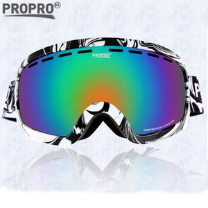 ПроПро Горнолыжная очки унисекс взрослых Профессиональные Сферическая противотуманным Dual Lens Сноуборд Горные лыжи Goggle очки 206