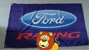 флаг гонок автомобиля Форда, размер 90X150CM, полиэфир 100%, король флага, полиэфир печати 100% цифров