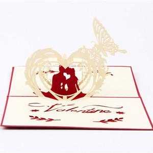 Новый творческий 3d полые трехмерные открытки скульптура любителей письмо маленькие открытки День Святого Валентина бесплатная доставка