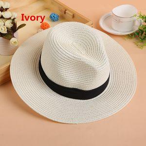Sommer Floppy breites Stroh Strand Sonnenhut Krempe Hüte für Frauen, Strand Headwear, breiter Krempe Panama Hut für Party Berufung Strand