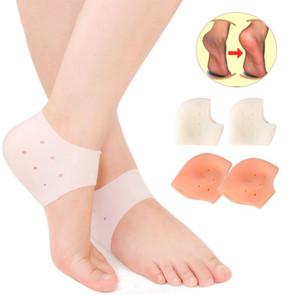 1 par de silicona herramienta para el cuidado del pie gel hidratante calcetines del talón agrietada protector de la piel protector masajeador