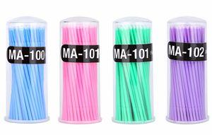 Nueva moda precio de fábrica extensión de pestañas aplicador desechable microbrush pestañas 100 piezas micro cepillo aplicador envío gratis