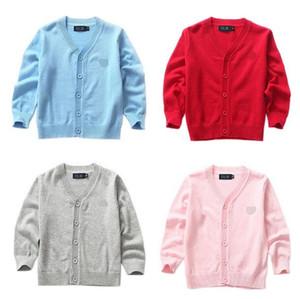 New Boys niño raya suéter niño 100% algodón tejer suéteres otoño niños ropa cardigan bebé