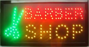 2017 매우 밝은 LED 네온 사인 BARBER SHOP 빛 살아 움직이는듯한 네온 표시는 네온 사인 광고판 크기 19x10 인치를지도했다