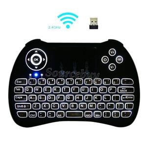 Tragbare mini tastatur h9 fly air maus multi-media fernbedienung touchpad handheld drahtlose tastaturen für android tv box smartphone spiel