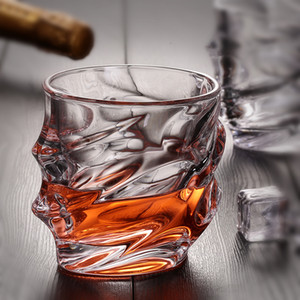 Creative Engraved Design Whisky Glasses 8oz Drinking Beer Water Wine Brandy Vodka Bar Hotel Restaurant Decoration