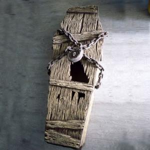 Caixão Trinket Box halloween caixão Halloween Decorações Adereços Casa Assombrada Idéias Halloween Lápide Partido Quintal Frete Grátis