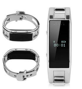 Bracelet intelligent D8 Bluetooth Fitness Tracker Rappel de la caméra Bracelet Portable en acier inoxydable pour Android IOS montre de téléphone