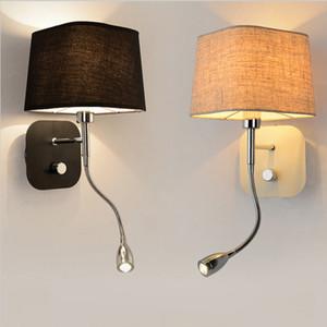 LED Modern camera da letto studio lampada da parete Bagno specchio ufficio lampada da parete del lavoro Ferro parete Sconce Stretch lunghezza hotel room bar ristorante illuminazione
