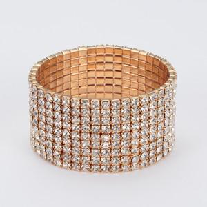 La ragazza un regalo Moda gioielli strass pieno per le donne Luxury Classic Crystal Pave Link Bracciale Bangle Wedding Party Accessori