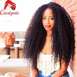 Indio 180% Density Loose Curl pelucas llenas del cordón con el pelo del bebé para las mujeres negras de calidad superior 8A grado Lace Front Wig envío gratuito
