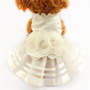 Armipet Pérola Flor Adorno Dog Dress Vestidos De Casamento Para Cães 6073008 Pet Saia Traje Suprimentos XS, S, M, L, XL