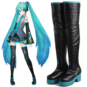 Kukucos Handmade Vocaloid Hatsune Miku Cosplay Boots Shoes Customized High Quality Best Gift For Jung Women