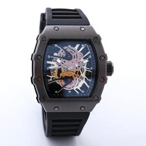 2018New marca de luxo crânio esporte relógios homens moda casual Skeleton quartz watch frete grátis Monro Homme SPROT relógio