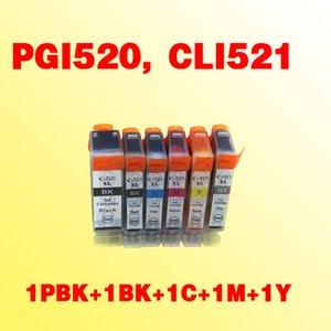 PGI520 PGI-520 CLI521 CLI-521 canon MP490 için uyumlu mürekkep kartuşu / MP550 / MP560 MX860 / MX870