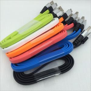 2A Unbroken FORTE piatto Noodle Micro USB cavo adattatore cavo del caricatore per Samsung Galaxy S4 S6 S5 Nota5 Nota4, HTC, 1M 3FT 5 colori