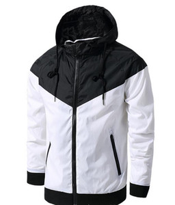 Ücretsiz kargo Güz ince windrunner Erkekler Kadınlar spor yüksek kalite su geçirmez kumaş Erkekler spor ceket Moda fermuar hoodie