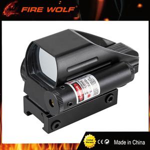 화재 늑대 전술 홀로그램 반사 레드 / 그린 도트 범위 4 레티클 레드 레이저 시력 22mm 무료 배송