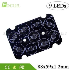 20pcs / lot 9W 27W LED Base de plaque d'aluminium 88x59mm 1W 3W 5W lumière perles perles COB Puce dissipateur de chaleur pour la lampe murale lampes sous l'eau