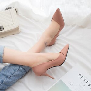2017 Sexy Shoes Leather Shoes New Suede Pointed Dress Shoe Woman Women Toe Wedding Heels Ladies Pumps High Fashion Shoes Size 34-40 Fudfu