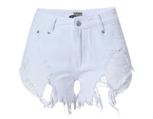2017041608 Short court sexy déchiré jeans femme 2017 été bleu foncé trou chaud short taille basse en denim short femme