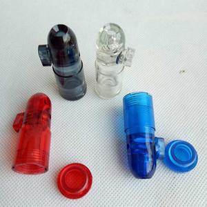 Kunststoff Snuff Dispenser Kugel Rocket Snorter Pfeife Bongs Walzmaschine Zigarette Tobacco Rohr 4colors Display Box Bubbler