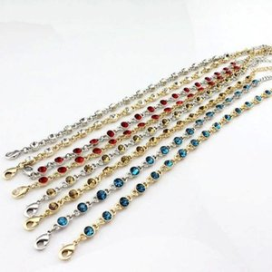 New style candy color anklet fashion trend bracelet flashing gem anklet 7 color mixed wholesale free shipping