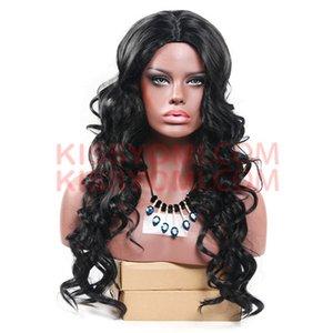 Дешевые Женщины Синтетические Волосы Парики Объемная Волна Extre Длинный Парик Лолита Drag Party знаменитости Парик Черный Термостойкий