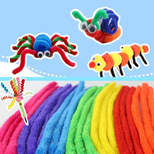 Colorful DIY Educational Kids Toys Twist Rods Plush Materials Shilly Stick Children Craft Tools Birthday Party Favors