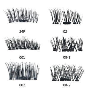 Beliebte 3D Magnetic Wimpern falsche falschen Wimpern leicht zu tragen Verlängerung Kein Kleber falsche Wimpern Set für Natural Look