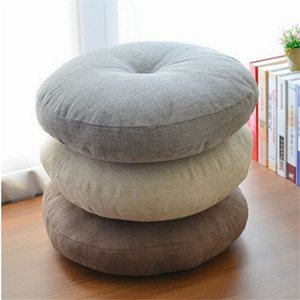 Japanese linen thick futon cushion   breathable play cushion Zen mat floating window yoga round cushion