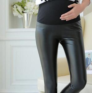 새로운 뜨거운 스페인 스타일의 겨울과 가을 pu 임산부 바지 임신 여성 의류 바지 임신 의류