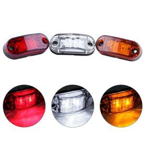4 Teile / satz 2 LED Auto Auto Lkw Anhänger Caravan Seitenmarkierungsleuchte Umrissleuchte 12 V 24 V Weiß / Rot / Gelb Farbe Universal