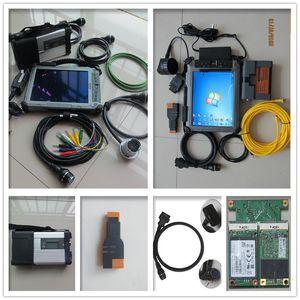 2017 Super MB Sd connect C5 para BMW ICOM A2 ferramenta de scanner de diagnóstico + laptop ix104 i7 4GB tablet conjunto completo + melhor suporte técnico