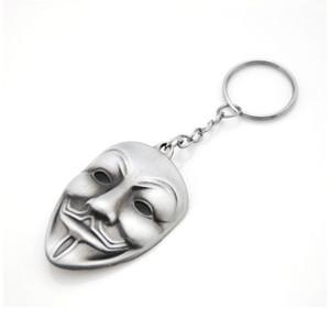 Original Series Marca Filme Chaveiro V for Vendetta Hacker Máscara New Keychain para chaves Chaveiro Llavero Chaveiro 3 cores de presente